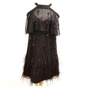 Elie Tahari Black embellished evening dress Size 6